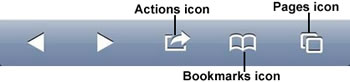 Pages icon in the menu bar